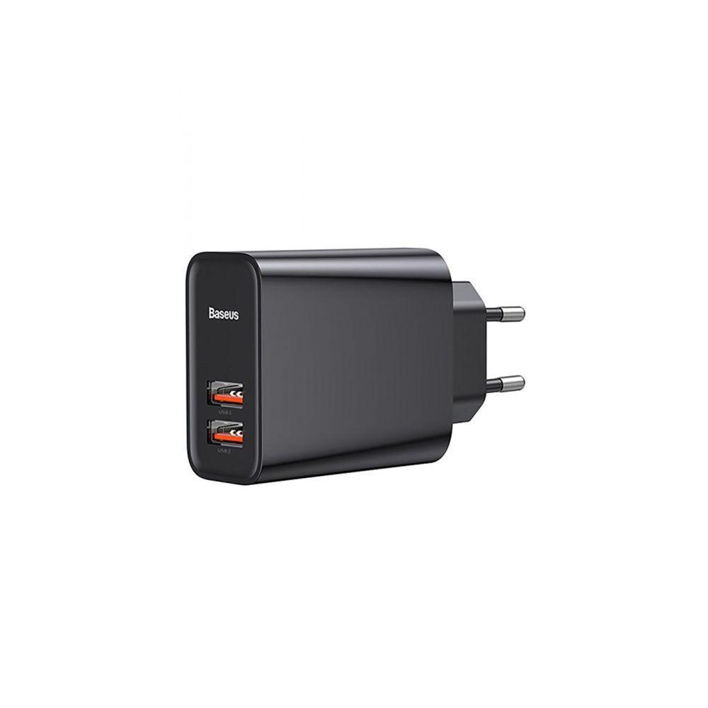 СЗУ Baseus Speed Dual QC3.0 30W 2USB black