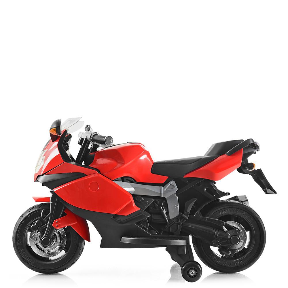 Детский электромотоцикл красный BMW Bambi M 3636EL-3 мощность мотора 45W