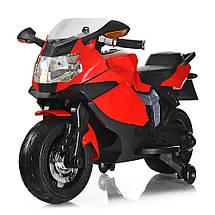 Детский электромотоцикл красный BMW Bambi M 3636EL-3 мощность мотора 45W, фото 3