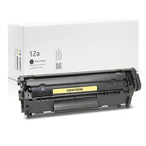 Картридж совместимый HP 12A (Q2612A), лазерный, 2.000 копий, аналог от Gravitone (GTH-CRG-Q2612A-BK)
