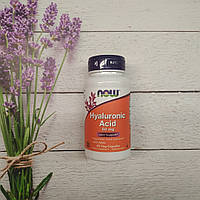 Now Foods Hyaluronic Acid 60 veg caps 50 mg with MSM , гиалуроновая кислота МСМ Нау фудс