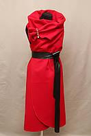 Кашемировая жилетка манто Турция бордо, фото 1
