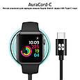 Зарядка для Apple Watch Promate AuraCord-C MFI USB Type-C с 1 м Black, фото 2
