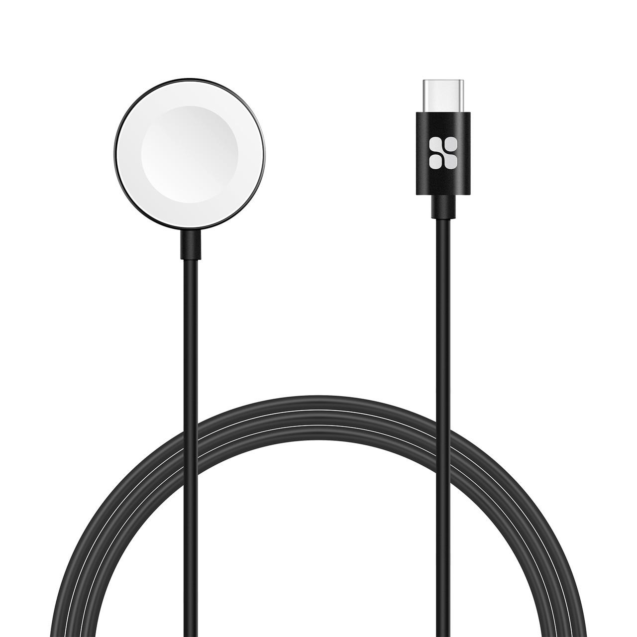 Зарядка для Apple Watch Promate AuraCord-C MFI USB Type-C с 1 м Black