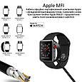 Зарядка для Apple Watch Promate AuraCord-C MFI USB Type-C с 1 м Black, фото 3
