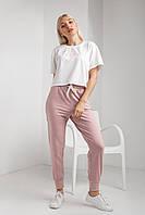 Пудровые летние женские спортивные штаны