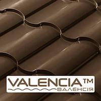 Металлочерепица VALENCIA Сталекс 0,5  мм | PEMA | RAL 8019 | Италия | Marchegalia |