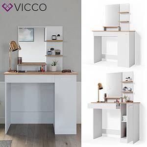 Туалетний столик 90х138, Vicco Julia, білий, Сонома