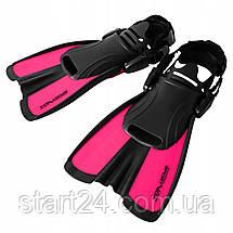 Ласты SportVida SV-DN0008JR-L Size 39-43 Black/Pink, фото 3