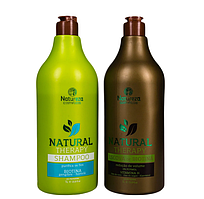 Нанопластика Natureza Natural Therapy Escova de biotina Набір 1000 мл