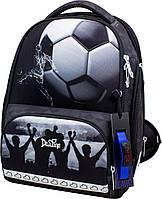 Рюкзак школьный ортопедический каркасный для мальчика часы+сумка для обуви+пенал 27 х20 х36 см Delune 10-006