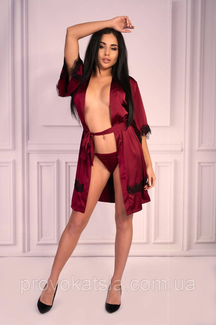 Aresmina халат бордовый Livia Corsetti Fashion