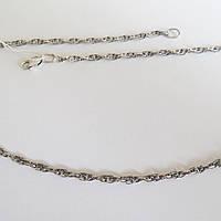 Серебряная цепь, черненная, Ручеек размер 55 см