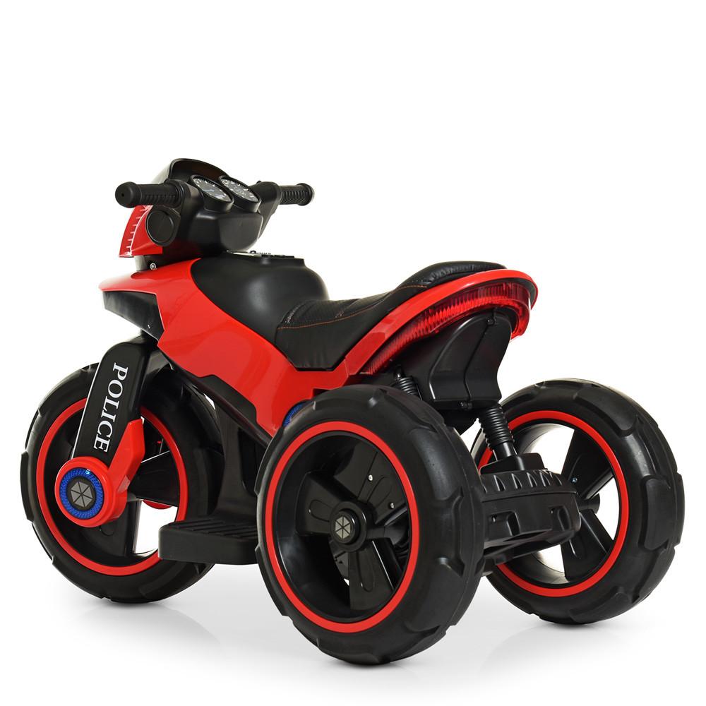 Детский электромотоцикл Полиция 2 мотора Bambi M 4228EBL-3 красный