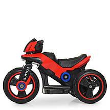 Детский электромотоцикл Полиция 2 мотора Bambi M 4228EBL-3 красный, фото 3