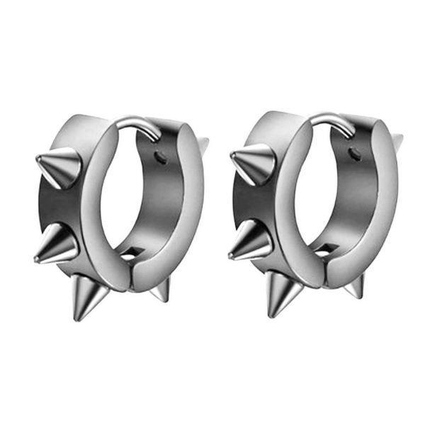 Сережки з шипами сталеві унісекс 176033