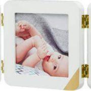 Рамка для фото Baby Art Тройная с отпечатком ручки ножки малыша Золотой Кант, фото 3