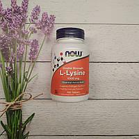 Now Foods L-Lysine 100 tab 1000 mg, лизин Нау фудс