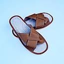 Домашние кожаные мужские тапочки 40-46 (ростовки), фото 2