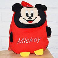 Плюшевый детский рюкзак Микки Маус