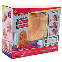 Кукла для причесок «Defa Lucy» (голова куклы), косметика, аксессуары 23 см (8415), фото 2