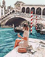 Картина красками по цифрам Влюбленная в Венецию, 40x50 см, Идейка (КНО4526)