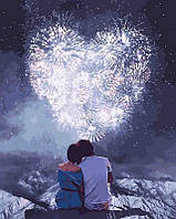 Картина красками по цифрам Влюбленные сердца, 40x50 см, Идейка (КНО4527)