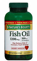 Nature`s Bounty Omega 3 Fish oil 1200 mg 180 softgel, фото 1