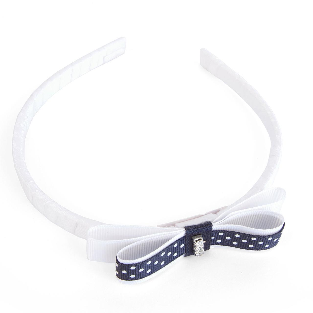 Элегантный обруч для волос для девочки с бантиком  GIAMO  PARG12