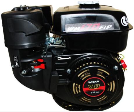 Двигатель Weima WM170F-S(CL) +БЕСПЛАТНАЯ ДОСТАВКА! (вал 20 мм, шпонка, центробежное сцепление)