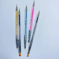 Кисть/дотс 2 в 1 для дизайна ногтей набор 5шт