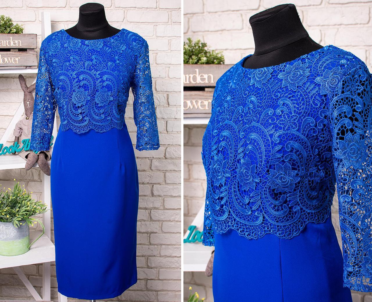 """Стильное  женское платье с цветочной вышивкой из органзы ткань """"Костюмная"""" 52 размер батал"""