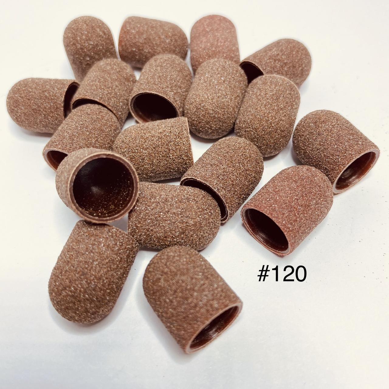 Колпачки абразивные для педикюра 10 мм 120 грит (1шт)