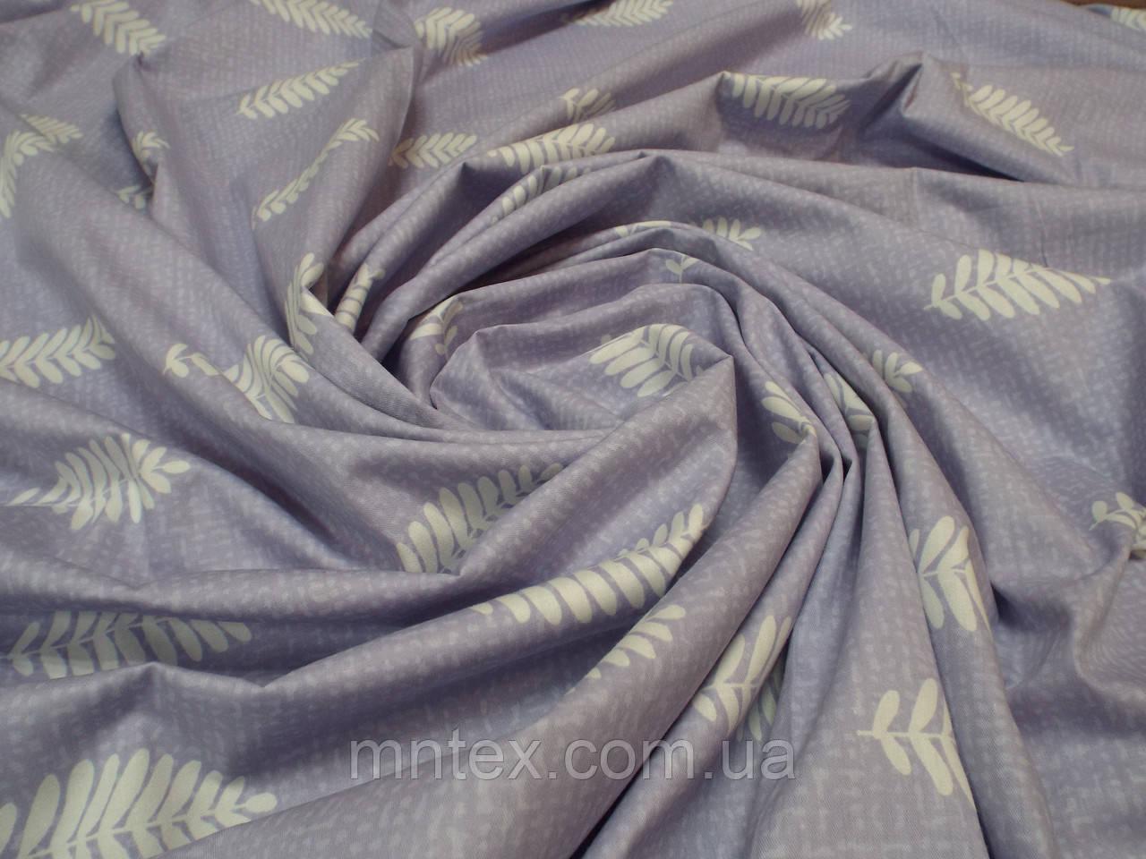 Ткань для пошива постельного белья сатин Папоротник (компаньйон)