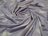Ткань для пошива постельного белья сатин Папоротник (компаньйон), фото 1