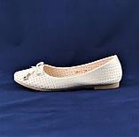 .Женские Балетки Белые Перламутр Мокасины Туфли (размеры: 37), фото 2