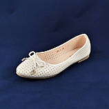 .Женские Балетки Белые Перламутр Мокасины Туфли (размеры: 37), фото 3