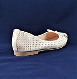 .Женские Балетки Белые Перламутр Мокасины Туфли (размеры: 37), фото 4