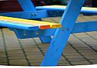 Набор детская деревянная песочница + столик с лавочками + качеля Just Fun (детская игровая площадка), фото 5