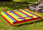 Набор детская деревянная песочница + столик с лавочками + качеля Just Fun (детская игровая площадка), фото 2