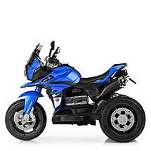 Дитячий електромотоцикл триколісний синій Bambi M 4117EL-4, фото 2