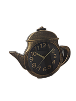 "Часы настенные  на кухню ""Чайник"" Золото (25х31 см) ABC"
