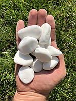 Ландшафтный камень Белая декоративная галька Мраморная крошка Тасос, 20 кг