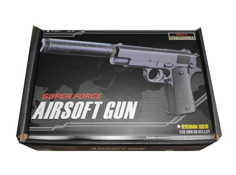Детский пистолет с глушителем Беретта, Beretta, 27 см