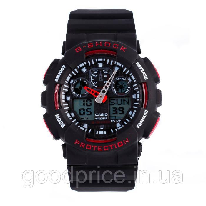 Неубиваемые спортивные наручные часы Casio G-shock GA-100 разных цветов