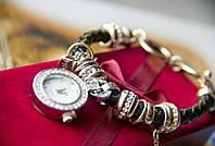 Часы-браслет Pandora (часы в стиле Pandora Style) Черный, фото 1
