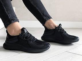 Кросівки жіночі літні сітка базові чорні, фото 2