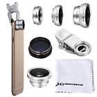 Универсальный набор объективов линз для телефона 3 в 1 Fisheye Macro Wide Фишай, фото 2