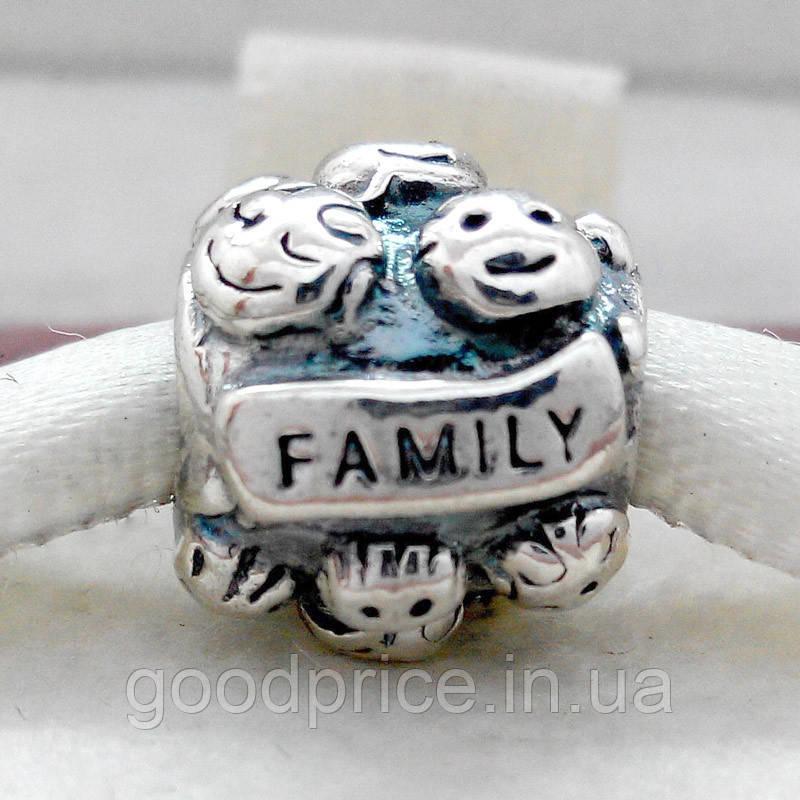 "Шарм бусина Pandora (Пандора) ""Family Love"""