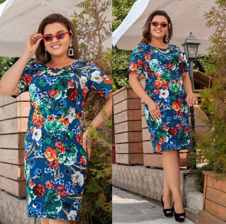 """Сногсшибательно красивое женское платье, ткань """"Коттон"""" 60 размер"""